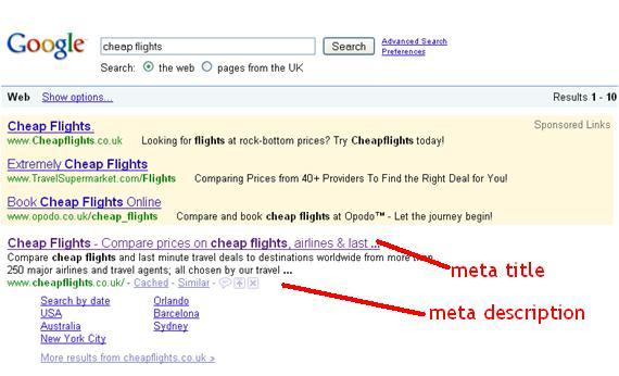 search engine optimization meta tags