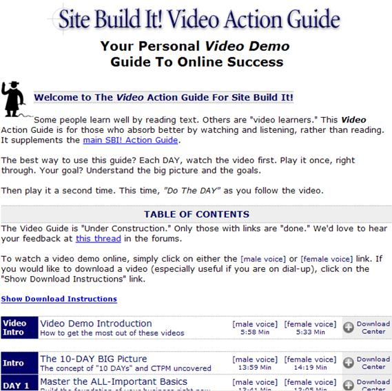 Site Build It Action Guide